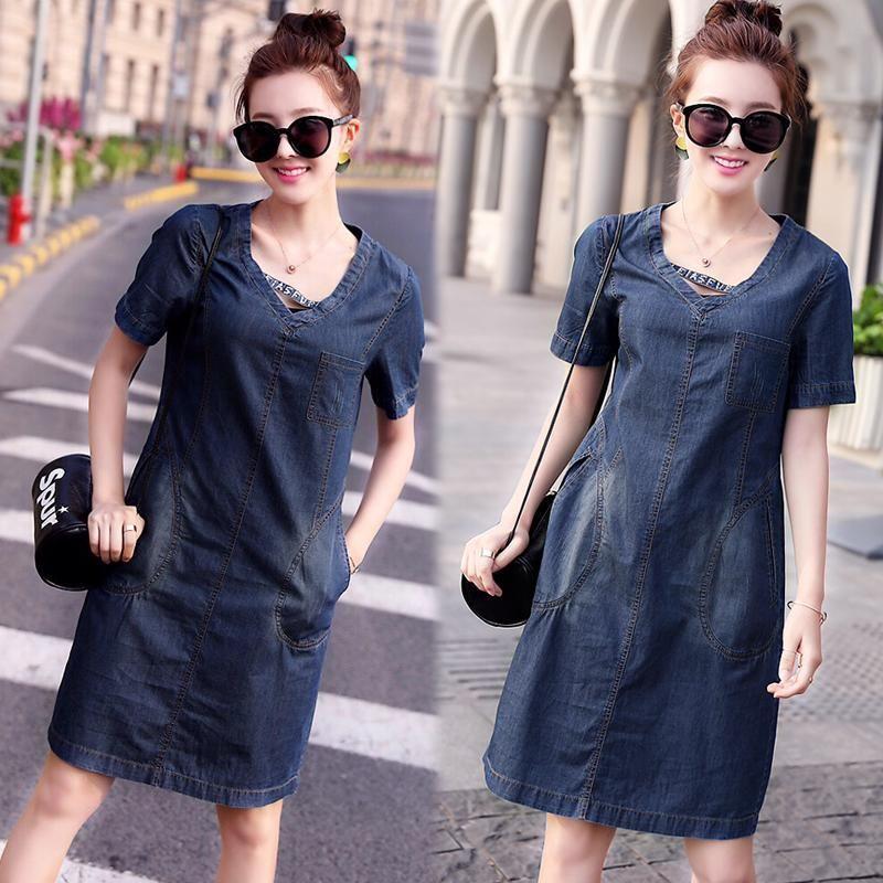 Đầm Jean Cổ Tim Dây Cách Điệu Phối Túi giá sỉ, giá bán buôn