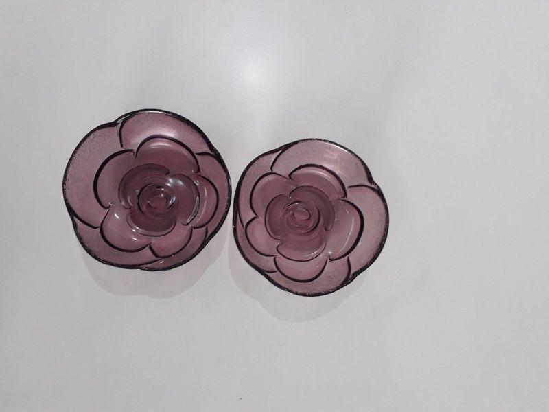 Chén gia vị thủy tinh kiểu hàn hoa anh đào tím6125cm giá sỉ, giá bán buôn