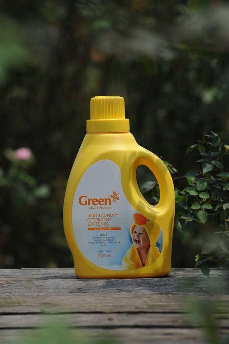 Nước giặt xả trẻ em Green Hàn Quốc hương Vani chai 1800ml giá sỉ, giá bán buôn