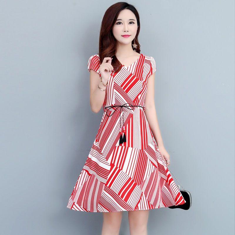 Đầm Xòe Phối Màu Đen Họa Tiết giá sỉ, giá bán buôn