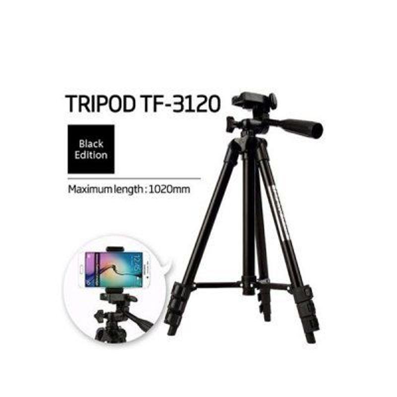 Chân máy chụp hình Tripod 3120 thân đen giá sỉ, giá bán buôn