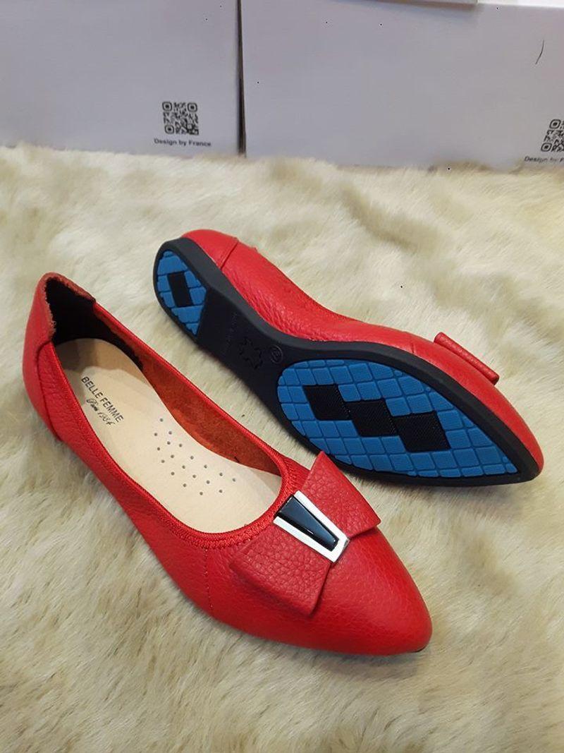 giày búp bê phú nhuận mũi nhỏ nơ đá đen giá sỉ, giá bán buôn