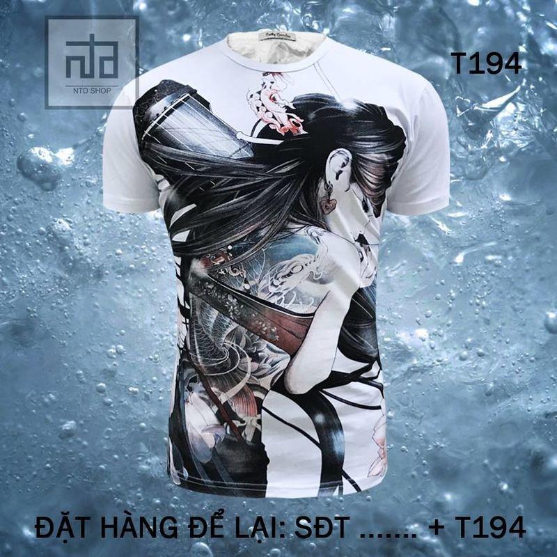 Áo thun nam in hình 3D T194A giá sỉ, giá bán buôn