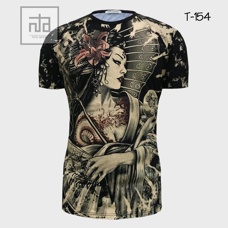 Áo thun nam in hình 3D T154A giá sỉ, giá bán buôn