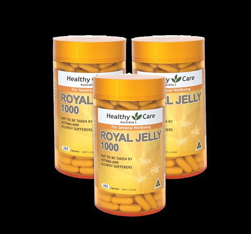Sữa Ong Chúa Healthy Care Royal Jelly 1000mg 365 Viên của Úc giá sỉ, giá bán buôn