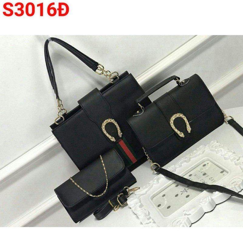 Bộ 3 túi xách khóa rồng giá sỉ, giá bán buôn