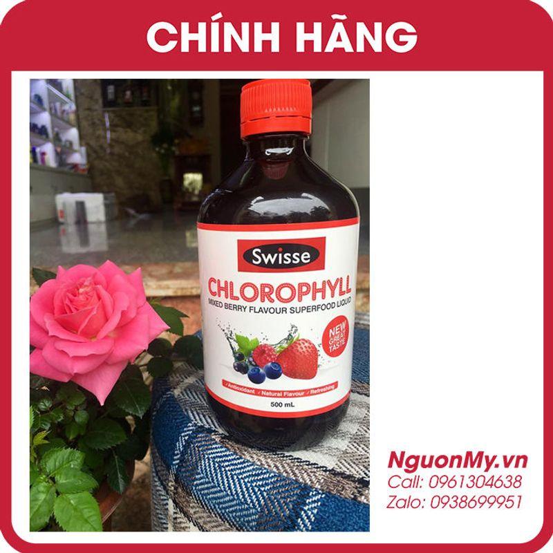 Nước diệp lục Swisse Chlorophyll Spearmint 500ml vị dâu của Úc hạn dùng 4/2020 giá sỉ, giá bán buôn