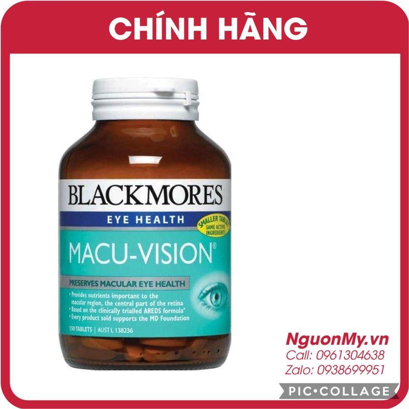 Viên Uống Bổ Mắt Blackmores Macu - Vision 125 Viên Của Úc