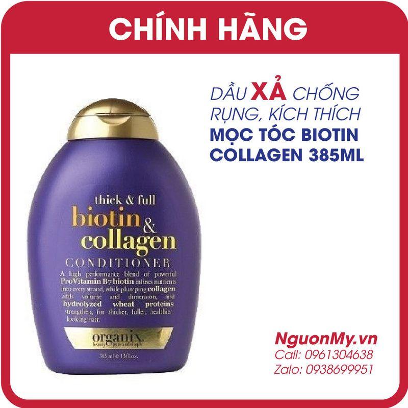 DẦU XẢ OGX kích thích mọc tóc Biotin Collagen của Mỹ giá sỉ, giá bán buôn