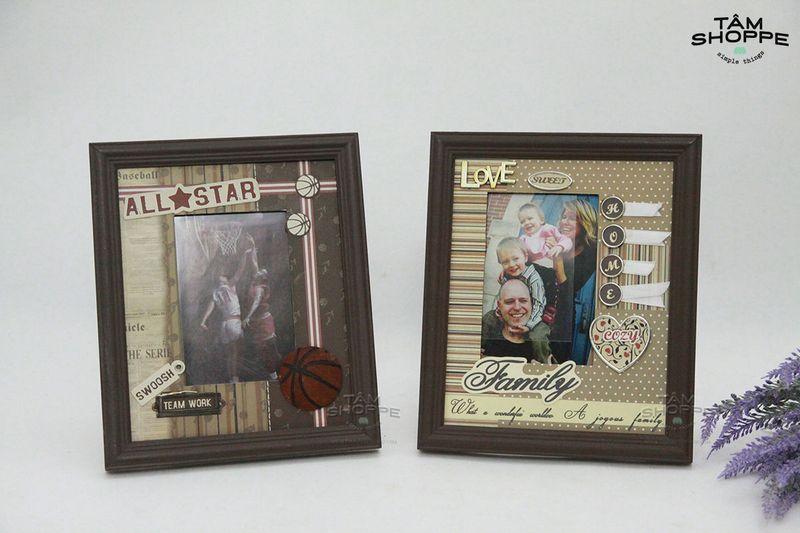 Chia sẻ Khung ảnh Vintage Handmade để bàn số 10 giá sỉ, giá bán buôn