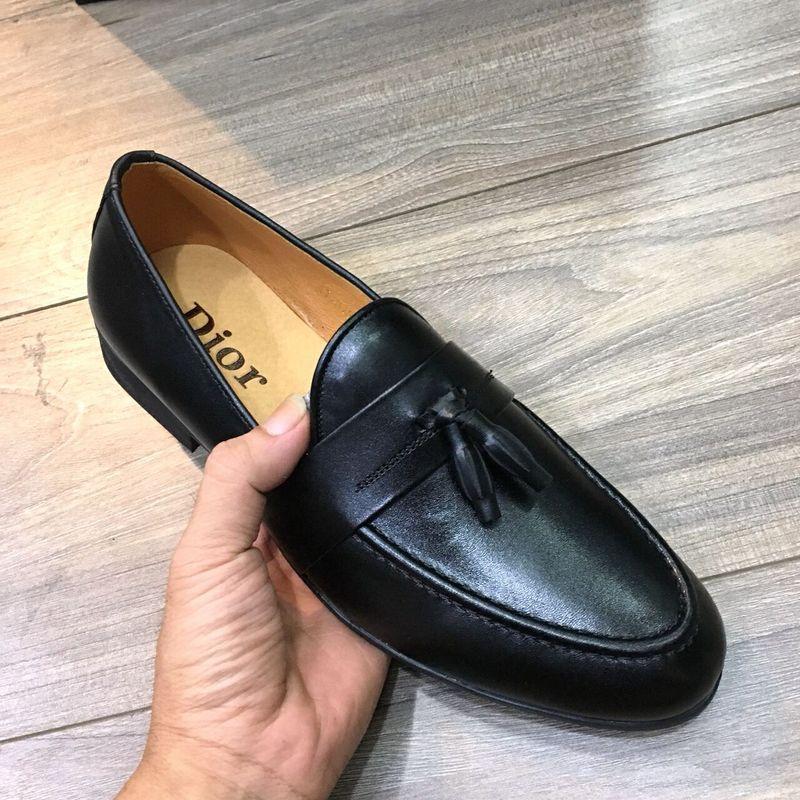 giày lười nam nơ chuông da bò 100 da mề đế cao su khâu chăc chắn giá sỉ, giá bán buôn