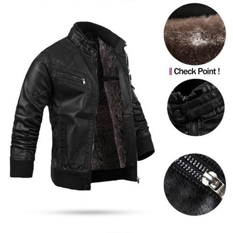 Áo khoác da lót lông KRAKN140 giá sỉ, giá bán buôn