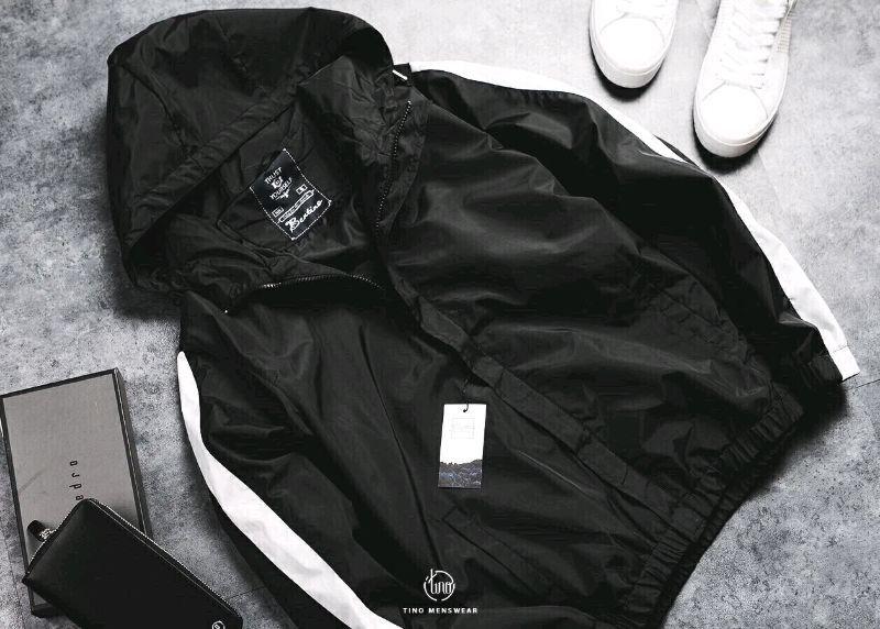 áo khoác dù nam sọc tay giá sỉ, giá bán buôn