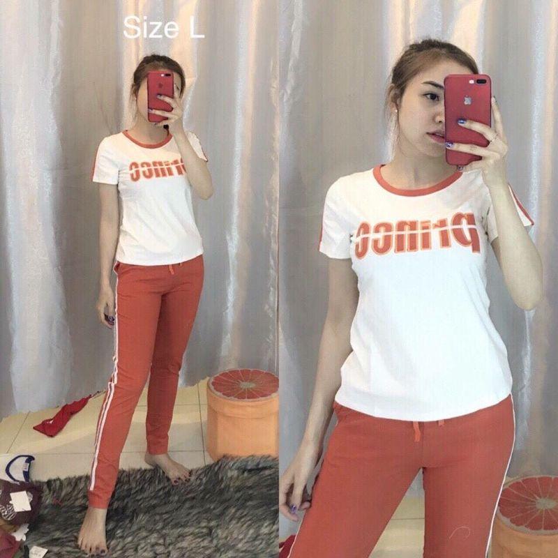 đồ bộ quần dài thể thao thun cô tôn lô gô in soc 12 giá sỉ, giá bán buôn