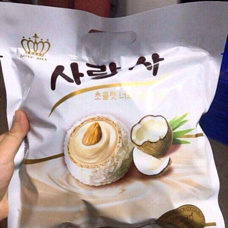 bánh hạnh nhân phủ dừa hàn quốc giá sỉ, giá bán buôn