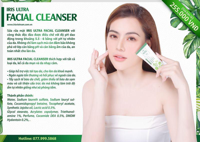 Sữa Rửa Mặt dưỡng trắng da Iris Ultra Facial Cleanser giá sỉ, giá bán buôn