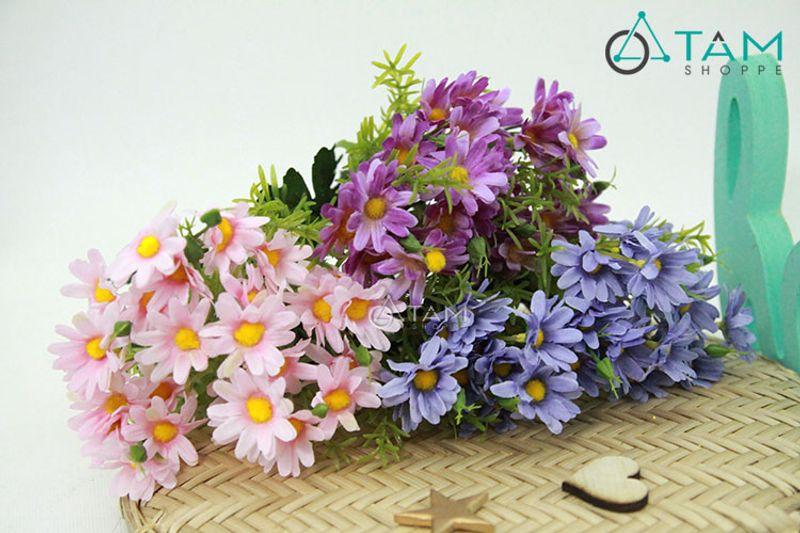 Cành hoa giả trang trí Cúc bông to số 68 giá sỉ, giá bán buôn