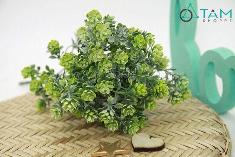 Cành hoa giả trang trí Liti xanh mốc số 67 giá sỉ, giá bán buôn
