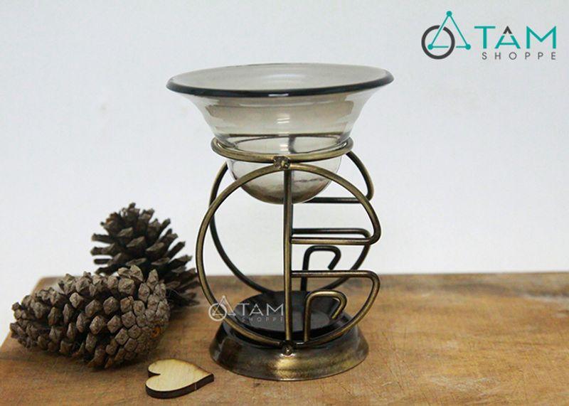 Đèn xông tinh dầu bằng nến Khung sắt số 03 giá sỉ, giá bán buôn