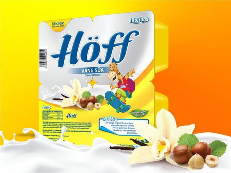 Váng sữa Hoff Vanilla 55g48 hộp giá sỉ, giá bán buôn