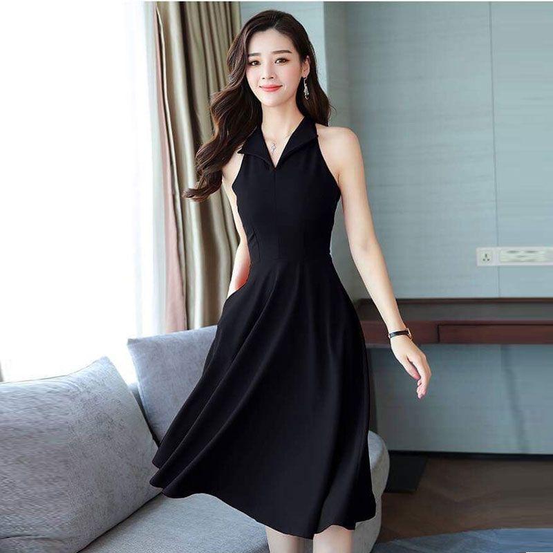 Đầm Xòe Sát Nách Cổ Vest Thanh Lịch giá sỉ, giá bán buôn