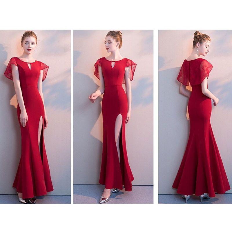 Đầm Dự Tiệc Choàng Ren Xẻ Đùi Đuôi Cá giá sỉ, giá bán buôn