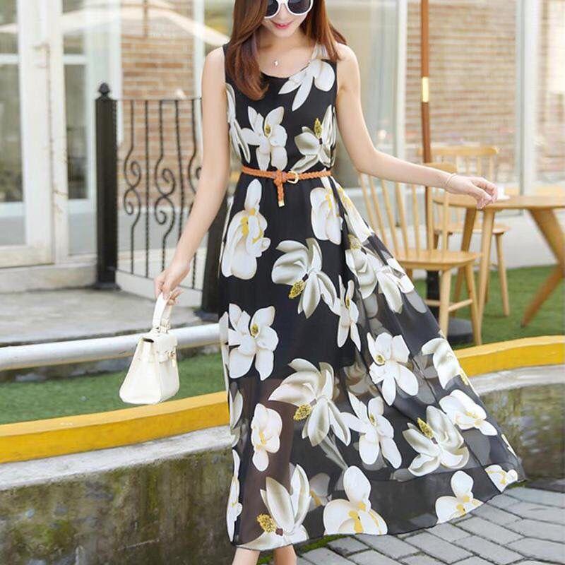 Đầm xoè Vintage dáng dài giá sỉ, giá bán buôn
