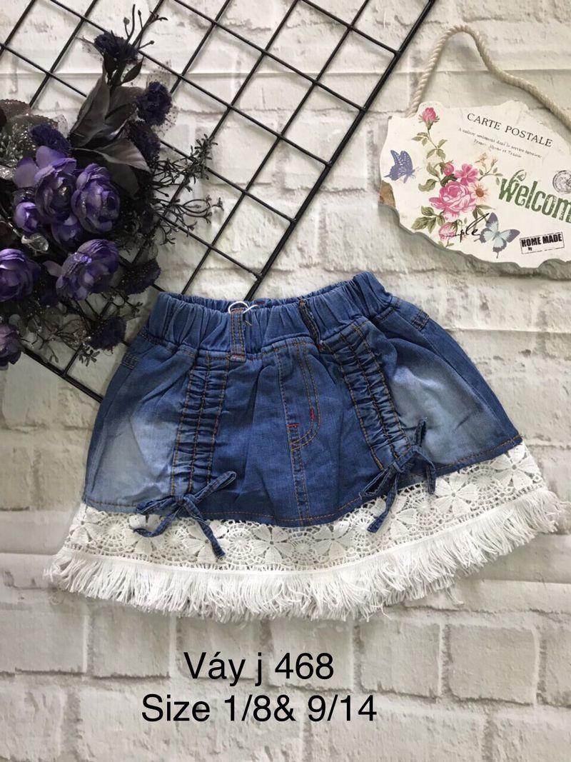 Váy jean có chip giá sỉ, giá bán buôn