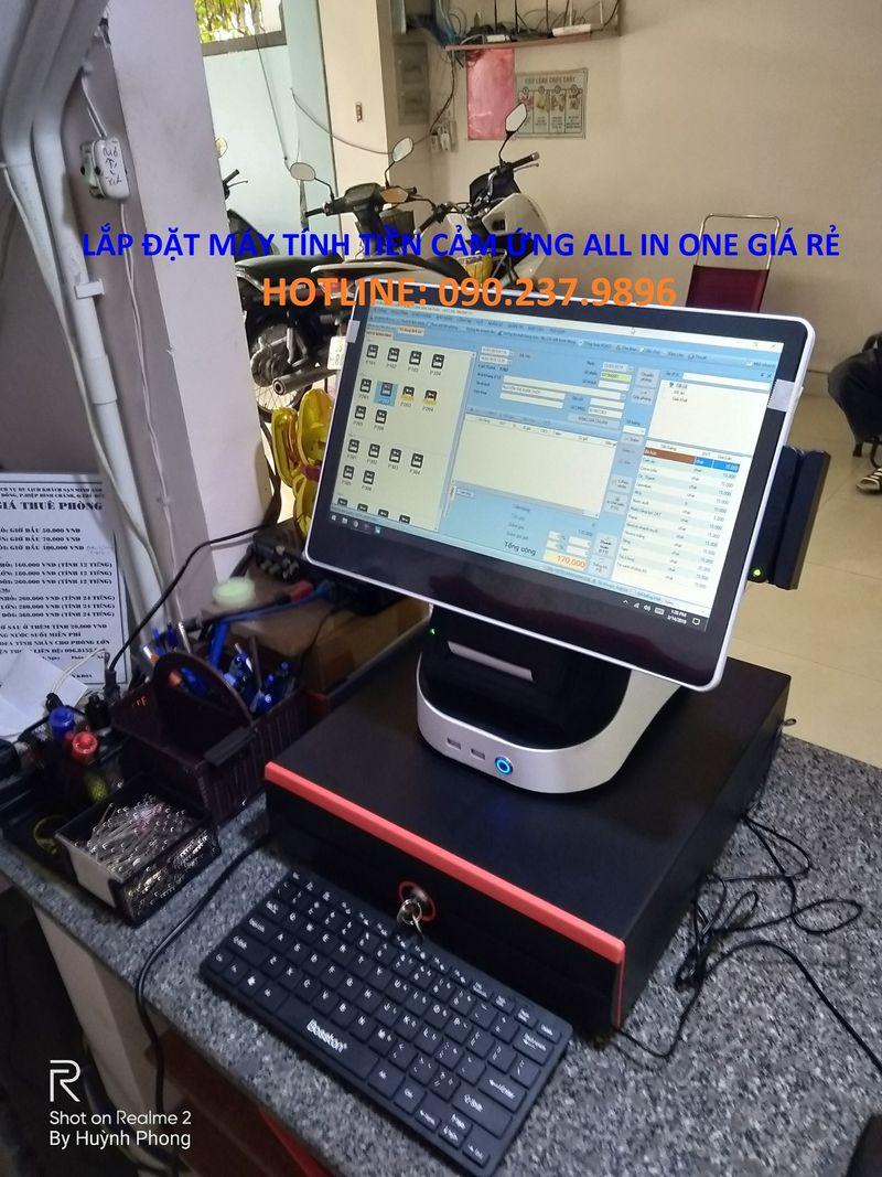 Máy tính tiền All In One cho quán cafe giá rẻ tại Vĩnh Long giá sỉ, giá bán buôn