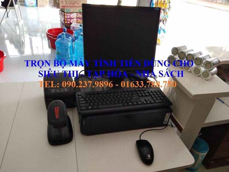 Trọn bộ máy tính tiền cho siêu thị tự chọn bán tại Vĩnh Long