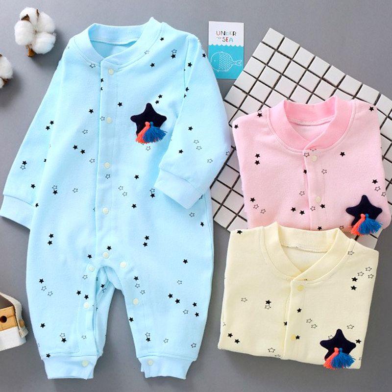 Áo liền quần cho bé sơ sinh hoa văn ngôi sao đáng yêu 101 giá sỉ