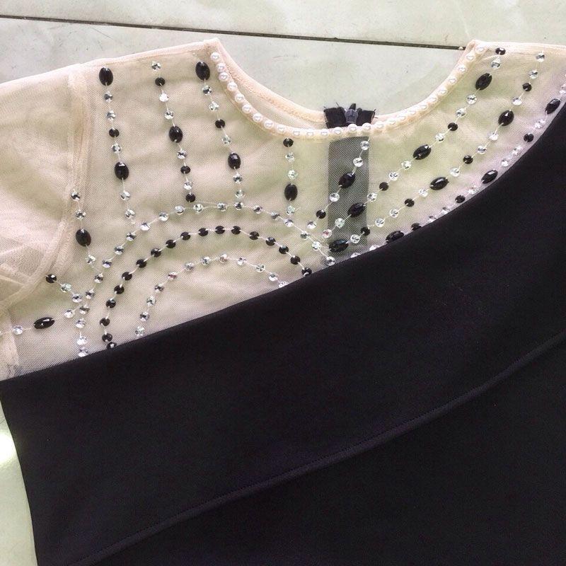 Đầm Dự Tiệc Lưới Kết Cườm Xẻ Đùi giá sỉ, giá bán buôn