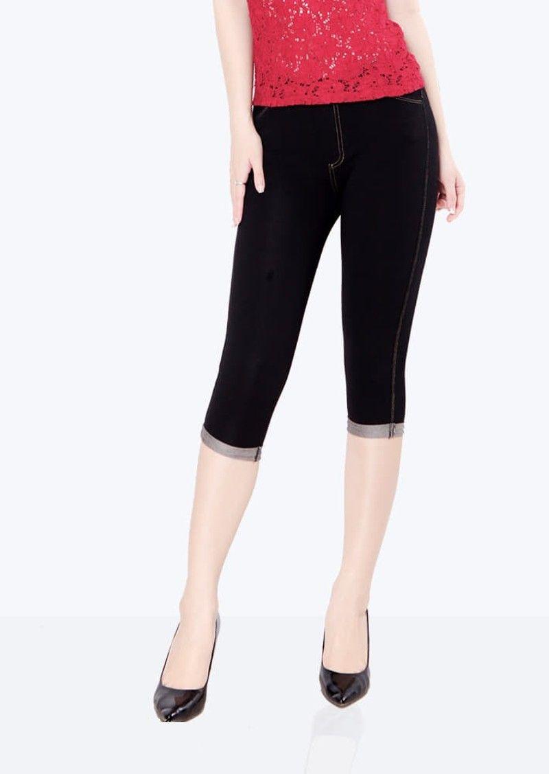 Quần legging giả jean lửng giá sỉ giá bán buôn Big size đến 90kg