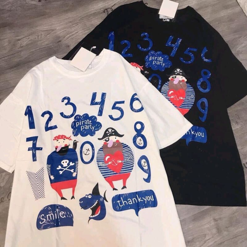 áo thun in số 12345 kèm logo cực hot giá sỉ, giá bán buôn