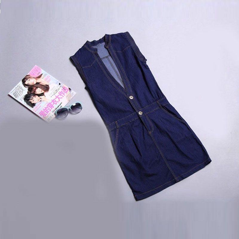 Đầm Jean Body Cổ V Sát Nách giá sỉ, giá bán buôn