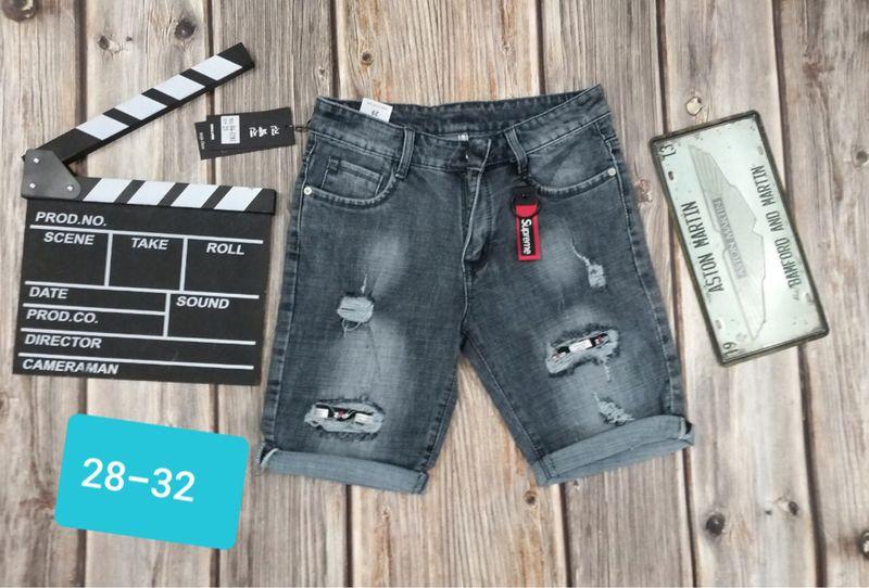 Quần short jean xám rách vá thời trang giá sỉ, giá bán buôn
