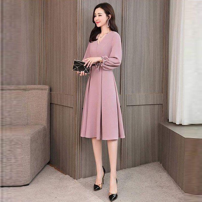 Đầm Hồng Dự Tiệc Vintage Sang Trọng giá sỉ, giá bán buôn