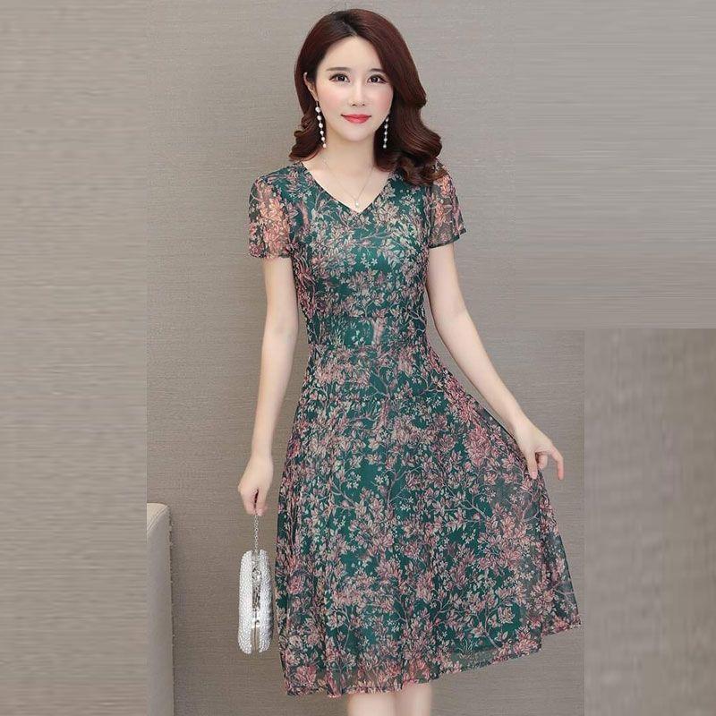 Đầm Hoa In Nhiệt 3D Voan Lụa giá sỉ, giá bán buôn