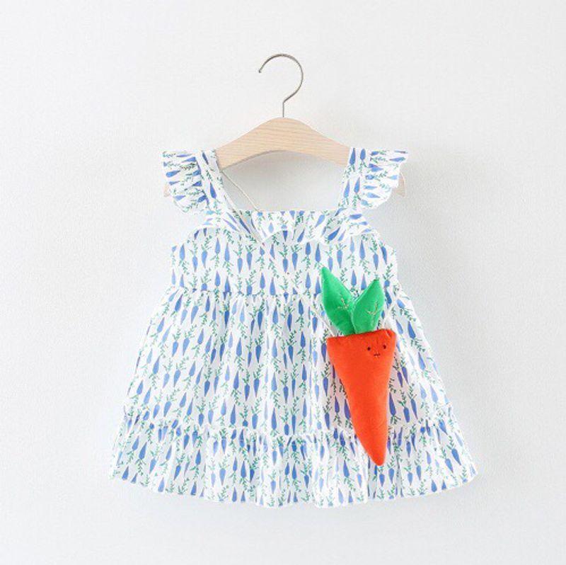 Váy cánh tiên 2 dây điệu đà cho bé gái giá sỉ, giá bán buôn