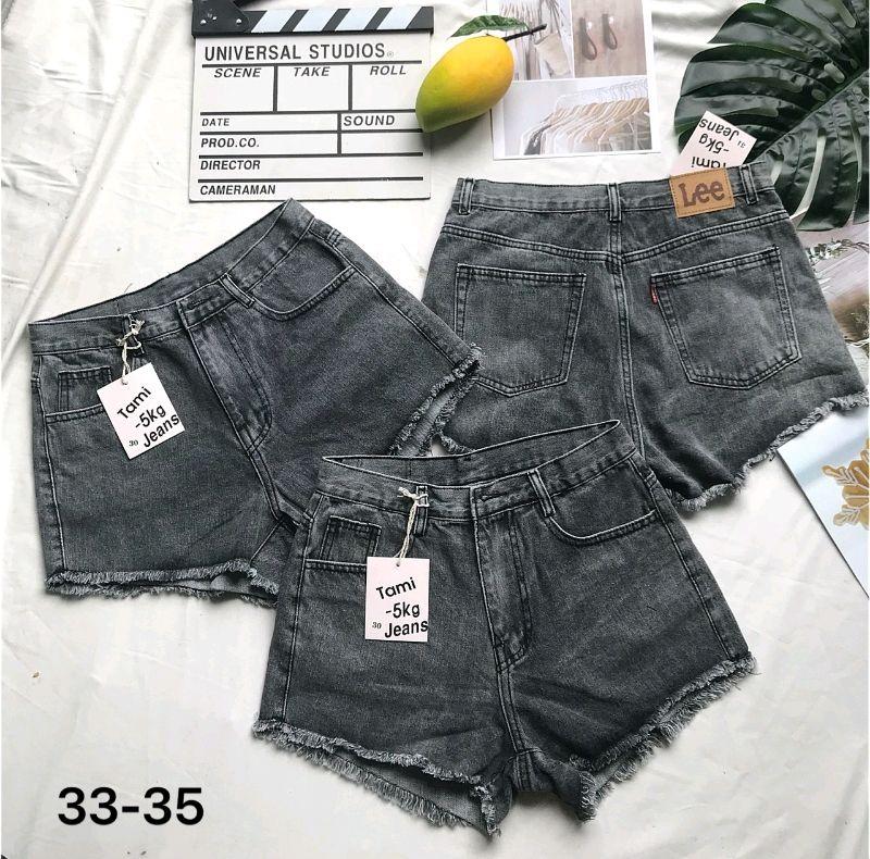 Quần Short Jean Nữ không rách Size Đại