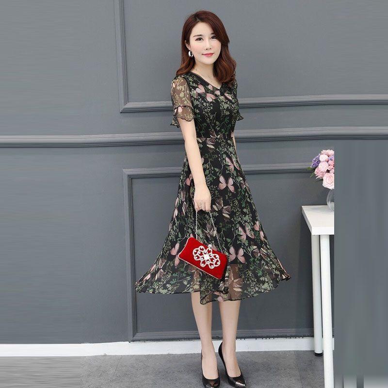 Đầm Xòe Voan Hoa 3D Tay Loe giá sỉ, giá bán buôn