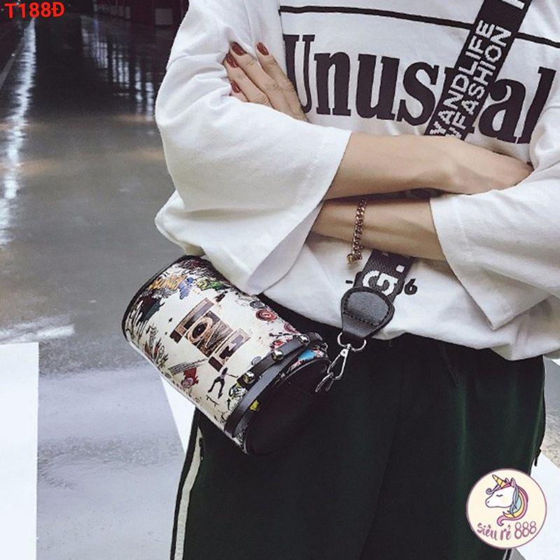 Túi đeo chéo trống họa tiết nữ giá sỉ, giá bán buôn