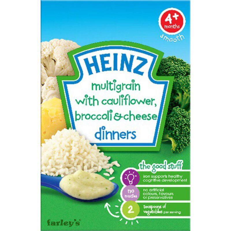 Bột ăn dặm Heinz Ngũ cốc súp lơ bông cải và phomai 125g - giá sỉ, giá bán buôn