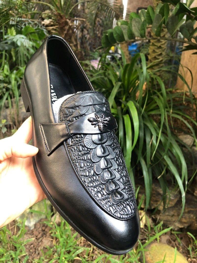 Giày lười nam da bò GL-03 giá sỉ, giá bán buôn