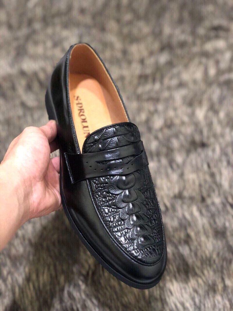 Giày lười nam da bò GL-06 giá sỉ, giá bán buôn