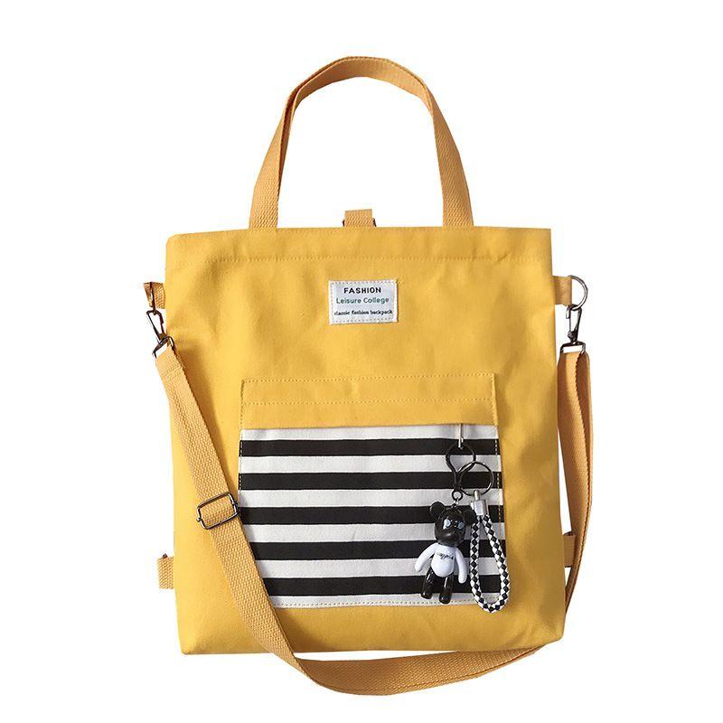 Túi Vải Tote Đeo Vai Kẻ Ngang Xinh Xắn D054 giá sỉ, giá bán buôn