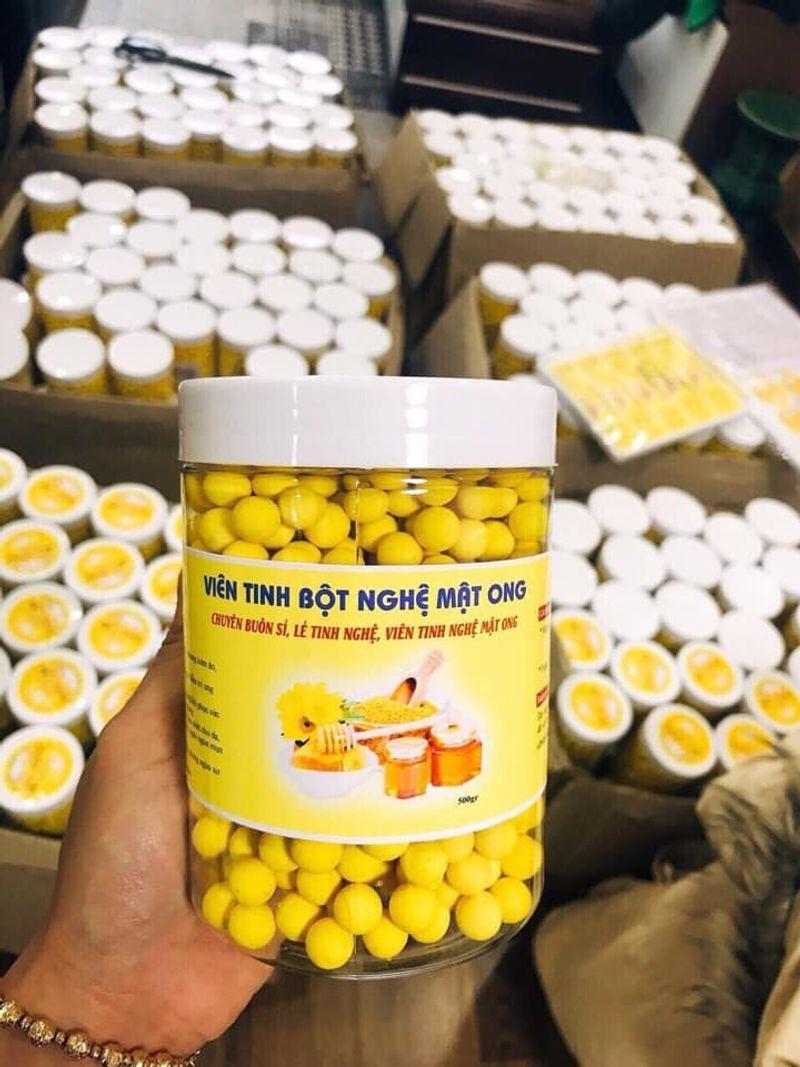 HOT 1kg-2 hộp Viên tinh bột nghệ mật ong sữa ong chúa Lọ 500gr giá sỉ, giá bán buôn