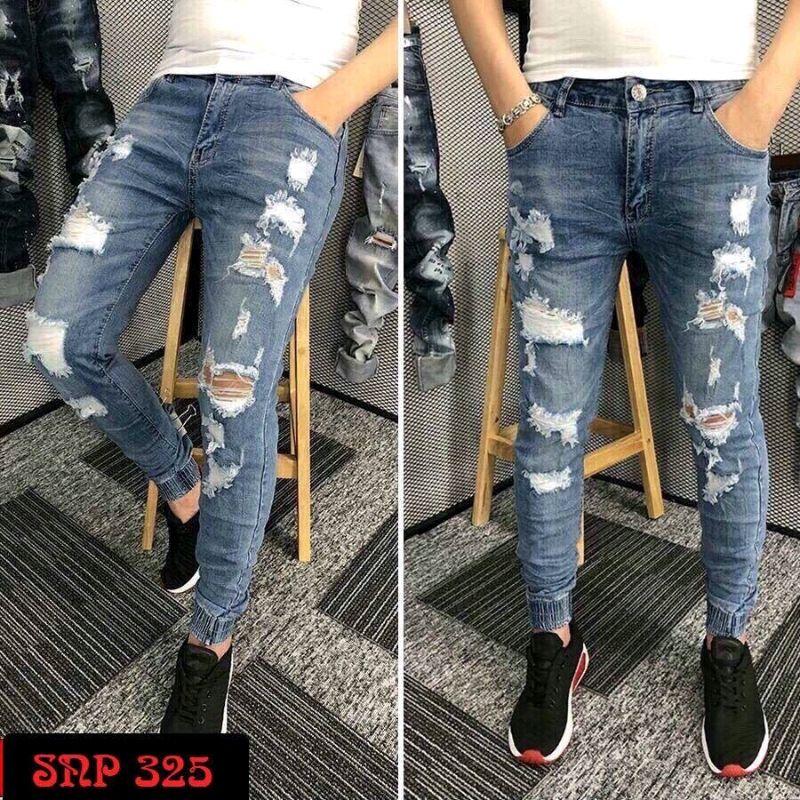 Quần Jeans Nam Rách cá tính chất đẹp giá sỉ, giá bán buôn