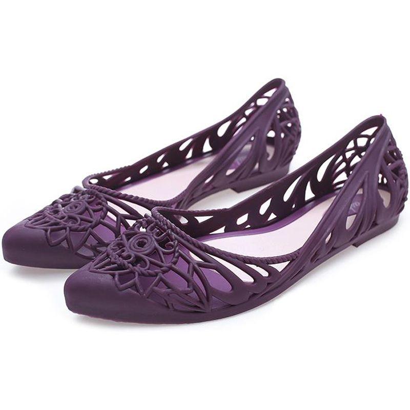 Giày búp bê chất liệu nhựa dẻo thoáng mát cho ngày mưa 302 giá sỉ, giá bán buôn