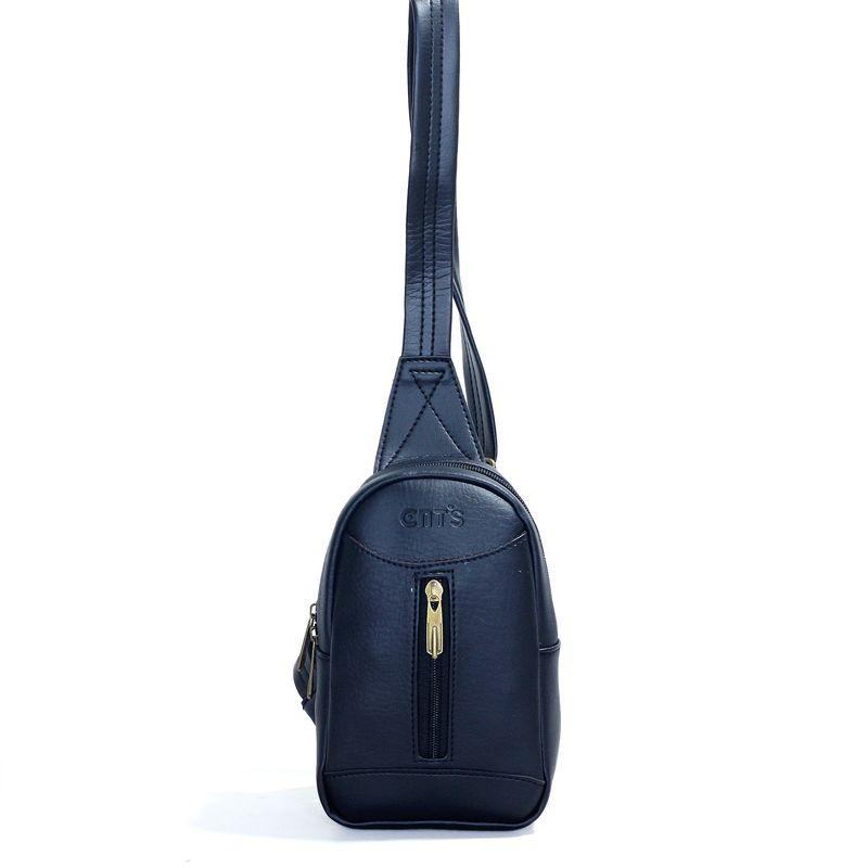 Túi đeo chéo unisex CNT MQ22 cá tính đen giá sỉ, giá bán buôn
